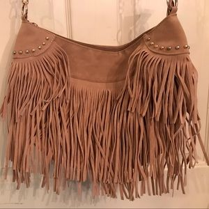 🎈(3for$25) Tan fringe purse